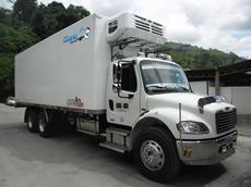 Vehiculo refrigerado alimentos que transporta